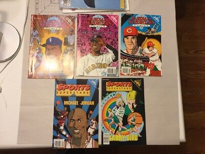 Vintage Baseball Superstars Comics Books Ken Griffey Jr Pete Rose Bo Jackson