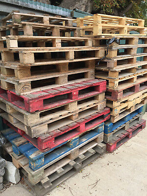 1 x Used Wooden Pallet for Recycling / Kindling / Bonfire - Condition As Photo