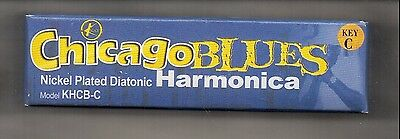 Chicago Blues Nickel Plated Diatonic Harmonica  NOS Key of C NEW IN BOX