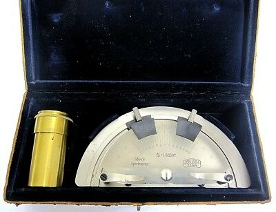 Abbe Apertometer. Carl Zeiss, Jena.  Numerical Aperture of Microscope Objectives