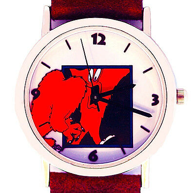 Gossamer 'In The Mirror', Fossil Warner Bros, Leather New Collectible Watch $179