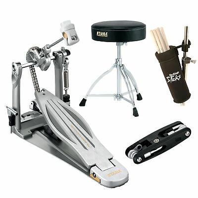Tama HP910LN Speed Cobra Single Pedal With Drum Throne Deluxe Bundle