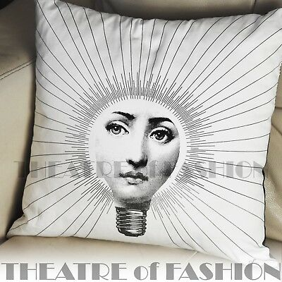 Vintage Cushion Fornasetti Pillow Bolster Urban Art Home Fashionista Iconic Rare