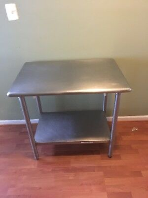 "industrial Grade Stainless Steel Work Prep Table 24"" X 36"""