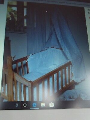 MOTHERCARE - Stunning white embriodery angalise crib / cot canopy & rod new