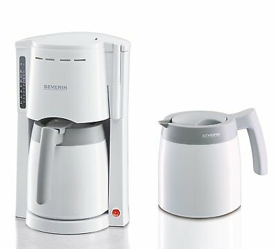 Severin KA9233 Coffee Machine With x2 Thermo Jugs And White And Grey Finish