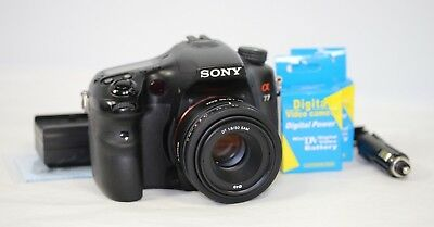 Sony Alpha A77 24.3MP Digital SLR Camera SLT-A77V & 50mm f/1.8 SAM Portrait Lens