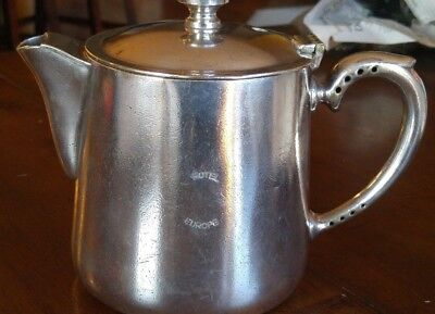 Vintage HOTEL EUROPE Coffee/Teapot-Silver Soldered Marked EPNS A1  - 1 1/2 PINT