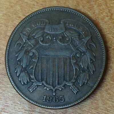1865 2 Cent Piece - Bidding Starts At .99 Cents And No Reserve!