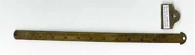 H B Rouse & Co Printers Brass Ruler