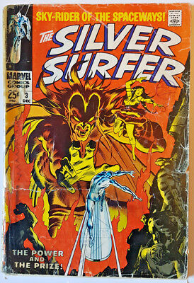 SILVER SURFER #3 - 1st Appearance of MEPHISTO - December 1968