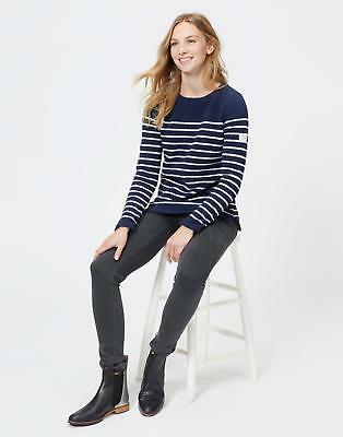 Joules Womens Seaham Chenille Jumper with Round Neck in French Navy