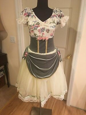 Whimsical Ballet Costume Adult Size Large with Flower Crown