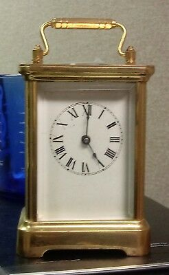 Antique 1907 WATERBURY Bronze Brass CARRIAGE CLOCK w/Chiming REPEATER