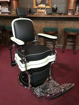 "1920's Barbershop Chair Koken Fully Restored Porcelain  ""Watch Video"""