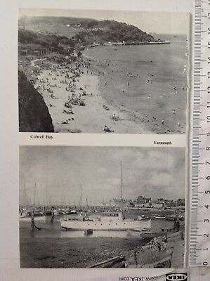 Colwell Bay & Yarmouth, Isle Of Wight, 1961 Vintage RP Print