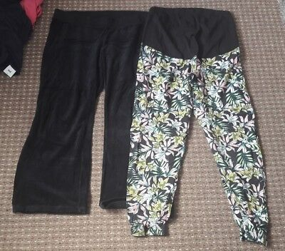 Ladies Size 16 Maternity Trousers x2 Pairs