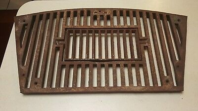 "Antique Vintage Cast Iron Grate Vent Large 29 1/2""x 15"" Heavy w/Swivel Door"