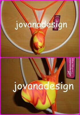 jovanadesign 3D String(1) Contour Pouch, Yellow/Orange Abstract  XS, S, M, L, XL