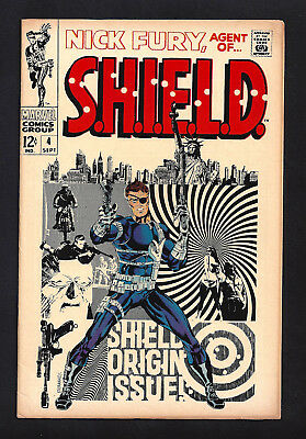 Nick Fury Agent Of Shield #4  Fine+ 6.5!  Steranko Art!