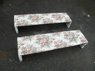 HL WW:       Pair Window Valences Wood with floral fabric