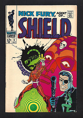 Nick Fury Agent Of Shield #5  Very Good Fine 5.0!  Steranko Art!