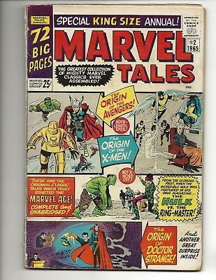 Marvel Tales #2 - Marvel Comics (1965) X-men #1 Avengers #1 Fair/Good?