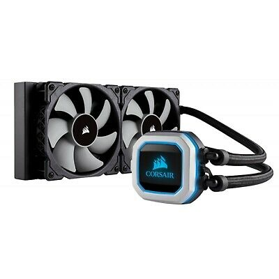 Corsair Hydro Series H100i Pro 240MM RGB Quiet Liquid CPU Cooler Heatsink Fan