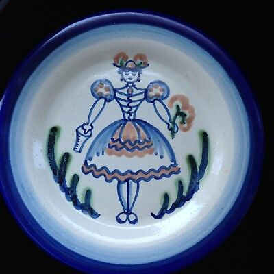 "MANY AVAILABLE! Milk Maid 9"" luncheon plate Louisville Pottery by John B Taylor"