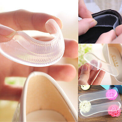 3 Pairs Clear Silicone Cushion Gel Heel Foot Care Insert Pads Shoe Insoles