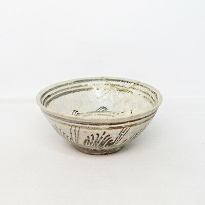D953: Southeast Asian tea bowl of old porcelain from Thailand called SUNKOROKU