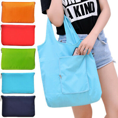 Women Tote Bags Portable Fashion Supermarket Solid Oversized Shoppers Foldable