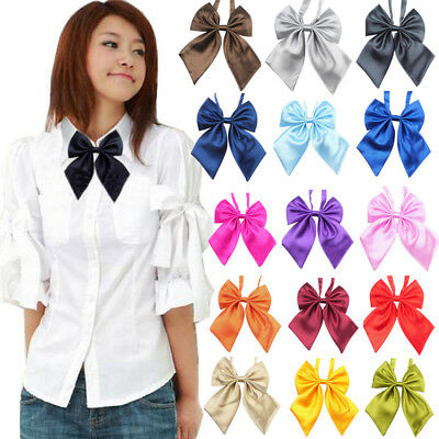 HAHA Fashion Unique Womens Ladies Girls Satin Novelty BIG Bow Tie Wedding Gift