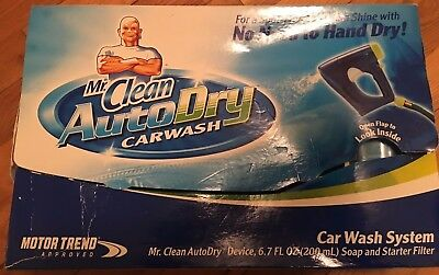 Mr. Clean Auto Dry Carwash Car Wash System w/ Soap & Starter Filter UNUSED