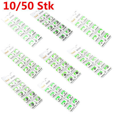 10/ 50Pcs AG0-AG13 Mini Alkaline Button Coin Cells Watches Battery Batteries Hot