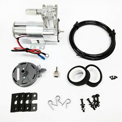 12V Single Chrome Air Compressor 150 psi. Max kit Motorcycle Air Ride Suspension