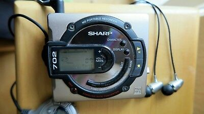 Sharp MD-MS702 H2 MD Portable Recorder inkl. Bedienungsanleitung