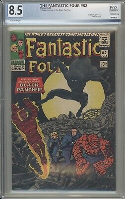 FANTASTIC FOUR 52 - PGX 8.5 - First Black Panther Appearance- Marvel