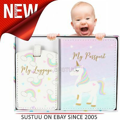 Unicorn Magic My First Passport Holder & Luggage Tag│Perfect Giftware For Baby