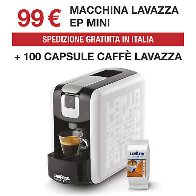Lavazza Ep Mini compatibile espresso point + 100 Caspule Lavazza Cremoso Web