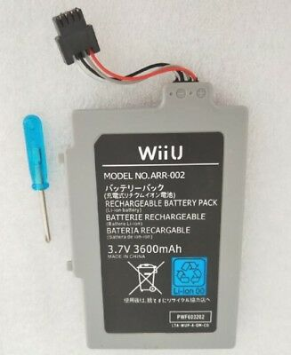 Extended Battery Pack for Nintendo Wii U Gamepad 3600mAh 3.7V Rechargeable