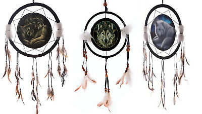 VARIOUS Lisa Parker Animal Feather Beaded Hanging Dream Catchers Bedroom Gift UK