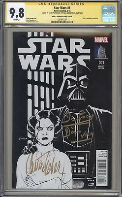 STAR WARS 1 (2015) - CGC 9.8 Signature Series - Carrie Fisher - Marvel