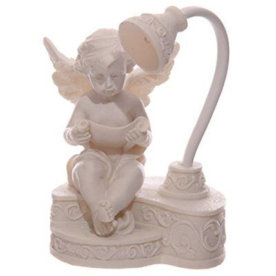 Decorative Baby Angel Cherub Ornament LED Figurine Reading Lamp Bedroom Gift
