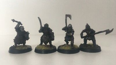 Warhammer Lord of the Rings - Orc x4 - Metal