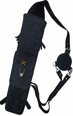 Target Fine Soft Suede Back Side Quiver With front Pocket Archery Product AQ118C