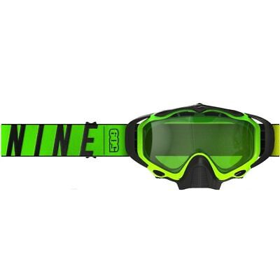509 Sinister X5 Snow Snowmobile Goggles -HI VIS / LIME- Green Tint Lens - New