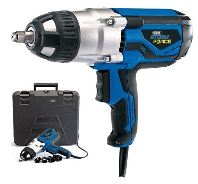 "Draper 1000W Electric 240V 1/2"" Dr Impact Wrench In Case & Sockets 82994 New"