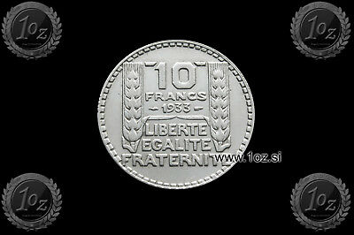 FRANCE 10 FRANCS 1933 SILVER Common Coin (KM# 878) VF-XF