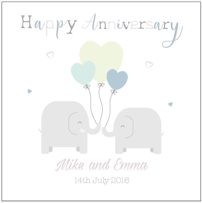 Personalised Wedding Anniversary Card Daughter Son in law sister brother